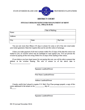 Printable eviction notice form templates fillable printable email for non payment form altavistaventures Image collections