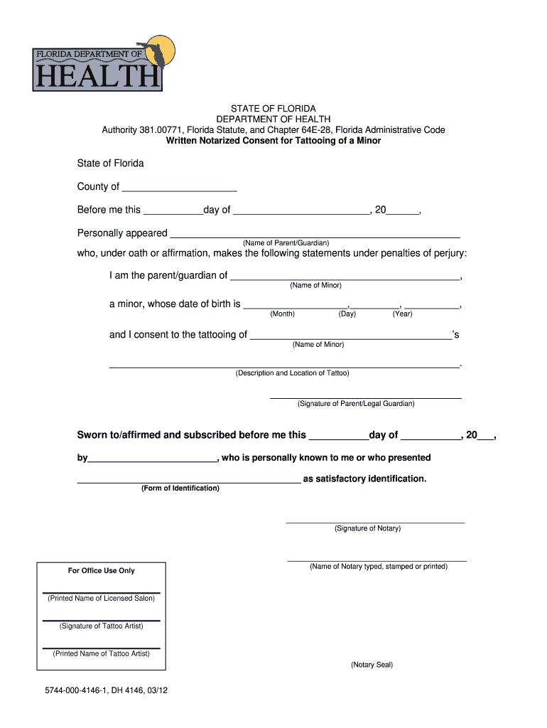 Fillable Online Notarized Minor Consent Form - Duval ...