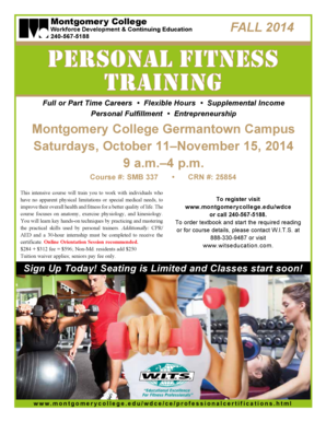 Personal Fitness Training Certification. - Montgomery College - montgomerycollege