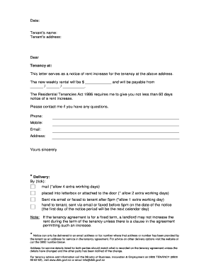 Beautiful Lease Renewal Increase Notice Form. Rent Increase Forms
