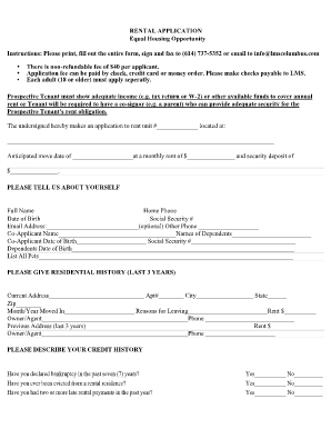 online rental application Forms and Templates - Fillable ...