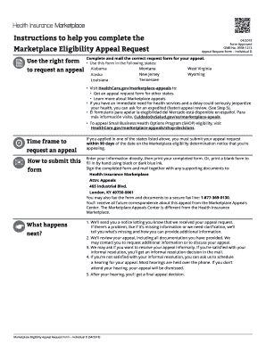 Fillable Online healthcare Appeal Request Form for the following ...