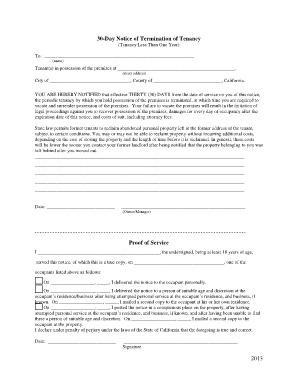 termination of tenancy notice santa cruz ca fill online printable fillable blank pdffiller. Black Bedroom Furniture Sets. Home Design Ideas