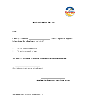 Sample Authorization Letter To Claim Cheque