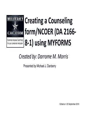 Ncoer Form - Fill Online, Printable, Fillable, Blank | PDFfiller