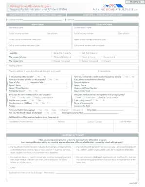Modification Form - Fill Online, Printable, Fillable ...