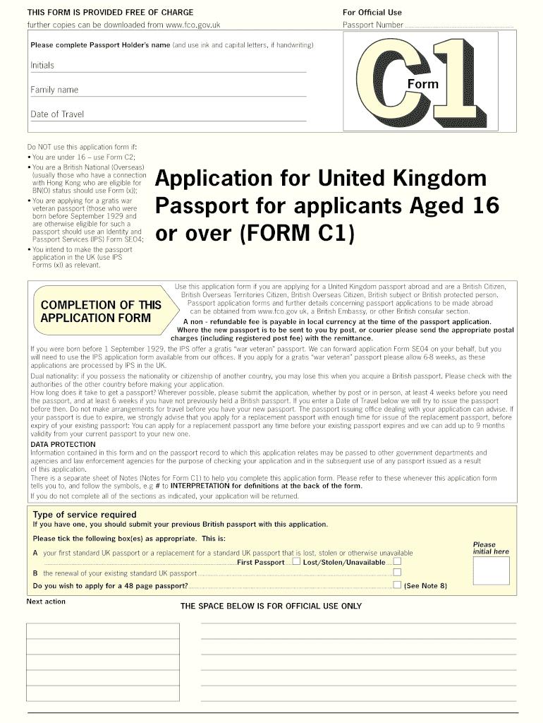 uk passport application form pdf under 16