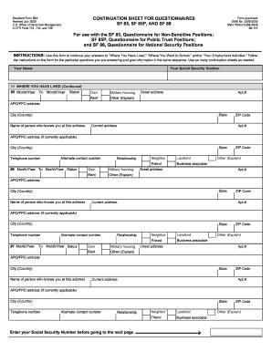 Optional form 306 opm