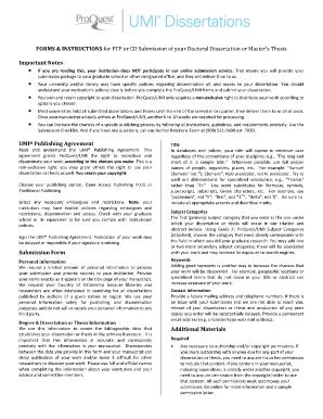 Dissertation publishing agreement