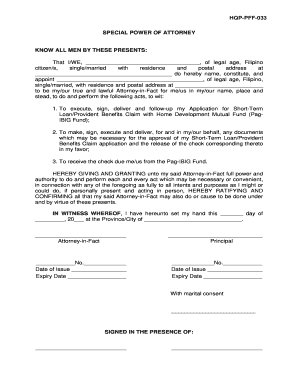 pag ibig housing loan spa form - Sample Special Power Of Attorney Form