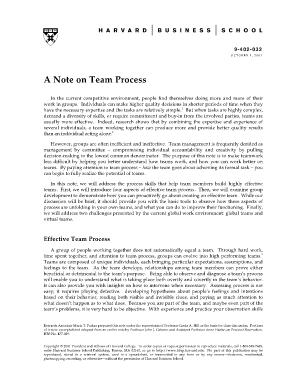 a note on team process pdf