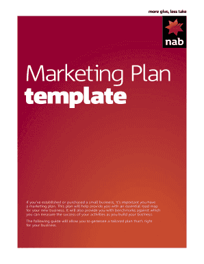 Marketing Plan template - NAB
