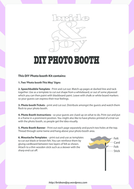 photo booth filler templates form