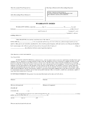 Generic Warranty Deed - Free Legal Forms - legalforms
