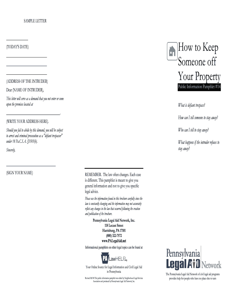 How To Start A Letter To Someone.Sample Letter Of Banning A Person Fill Online Printable