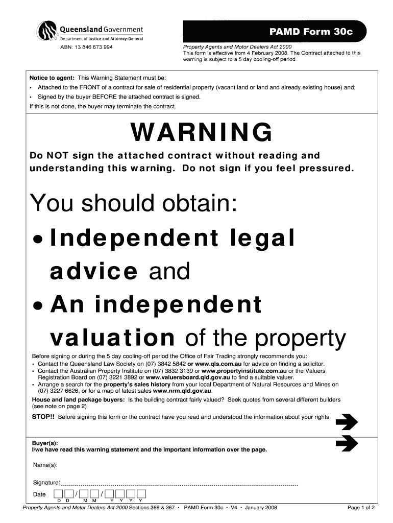 Fillable Online REIQ Contract: Houses & Land REIQ 3rd