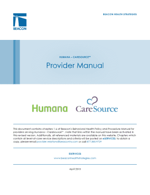 Fillable humana insurance timely filing limit - Edit Online