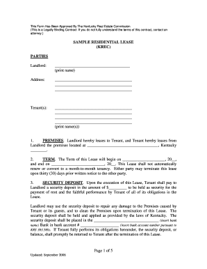 ky lease form