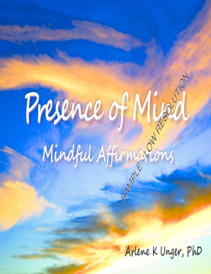 Presence of Mind - Mindful Affirmations - RealPsychSolutions