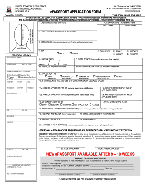 passport application for minors Forms and Templates - Fillable ...