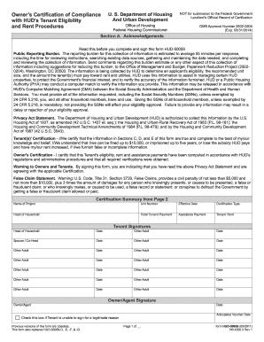 hud section 8 voucher form - Edit, Print & Download Fillable ...