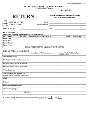 Muscogee County Probate Court Annual Return Form - Fill Online ...