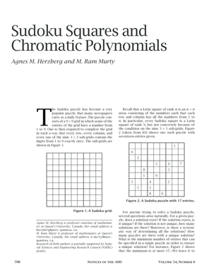 Sudoku Squares and Chromatic Polynomials
