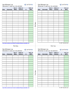 gas mileage log pdf - Edit Online, Fill Out & Download