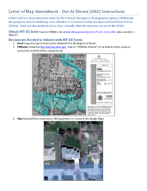 fillable online floods letter of map amendment out as shown oas instructions floods fax email print pdffiller