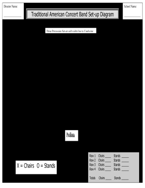 Concert Band Seating Chart Pdf Form  Printable Seating Charts