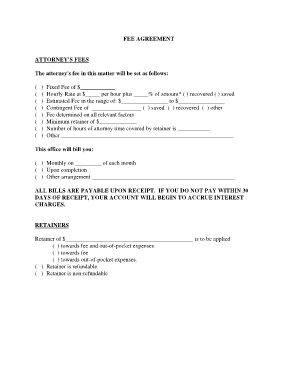 Ssa fee agreement forms and templates fillable printable fee agreement attorneys fees the attorneys fee in this matter will be set as follows platinumwayz