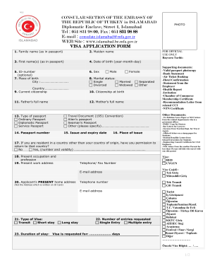 Turkey application fill online printable fillable blank pdffiller turkey work permit application form thecheapjerseys Gallery