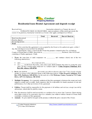 Receipt for lease security deposit forms and templates fillable residential lease rental agreement and deposit receipt platinumwayz