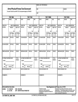 2010-2017 Form DA 705 Fill Online, Printable, Fillable, Blank ...