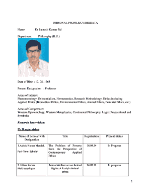 14 Printable bio data application free download Forms and