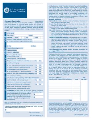 2014-2017 Form CBP 6059B Fill Online, Printable, Fillable, Blank ...