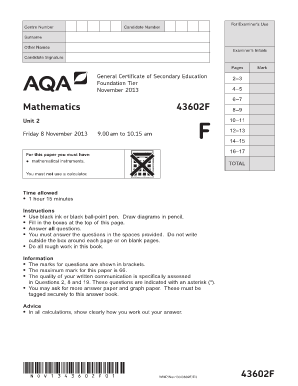 Free Printable Gcse Maths Worksheets