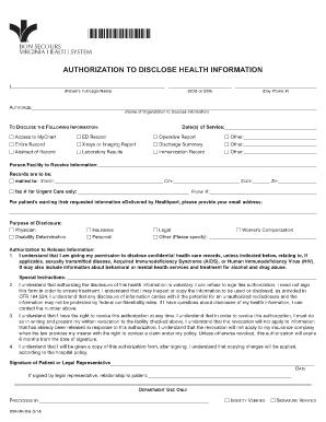 Release Of Medical Information Va
