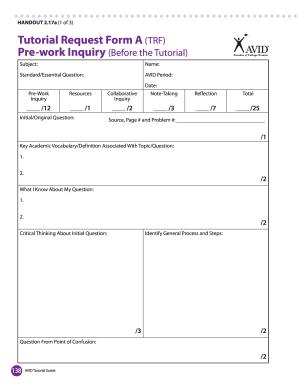 information handout template