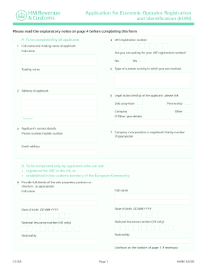 application general and white c220a form