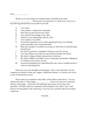 Character Letter To A Judge Sample from www.pdffiller.com