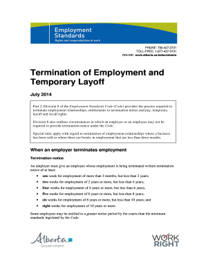 18 Printable Employee Termination Form Templates Fillable Samples