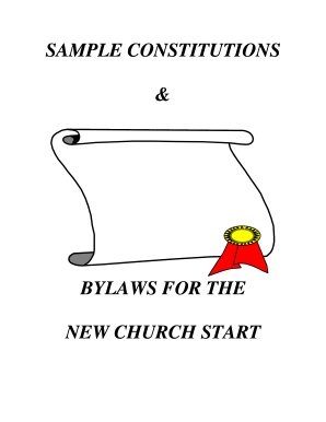 constitution and bylaws template - free printable church constitution fill online