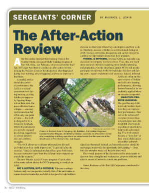 military after action review template - after action review army pdf download fill online