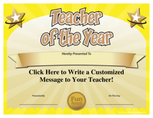 Free Teacher of the Year Award Template ... - Funny Awards