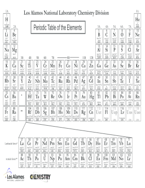 photograph relating to Printable Periodic Tables referred to as Printable Periodic Desk Of Variables - Fill On the web