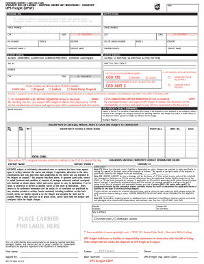 bill of lading instructions template