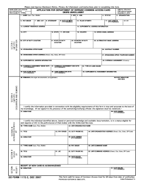 Dd Form 1172 2 Feb 2011 - Fill Online, Printable, Fillable, Blank ...