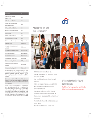 Welcome to the Citi Payroll Card Program What ... - The Home Depot