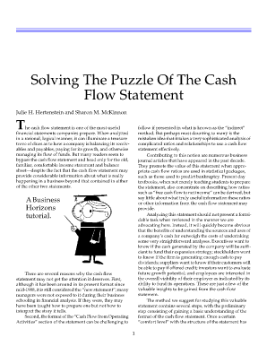 Solving The Puzzle Of The Cash Flow Statement - Isites.harvard.edu - isites harvard